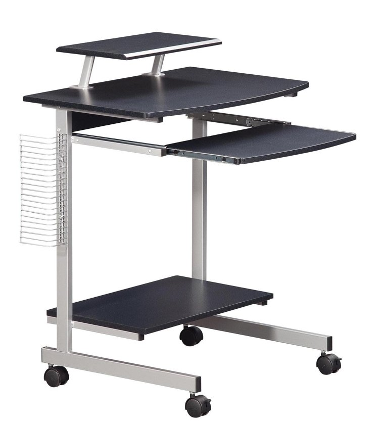 Mobile and Compact Complete Computer Workstation Desk