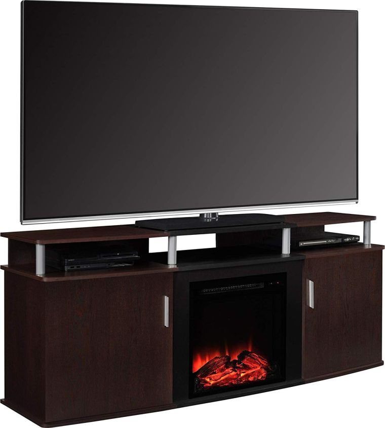 Ameriwood Home 1766196PCOM Carson Electric Fireplace TV Console best buy TV stands