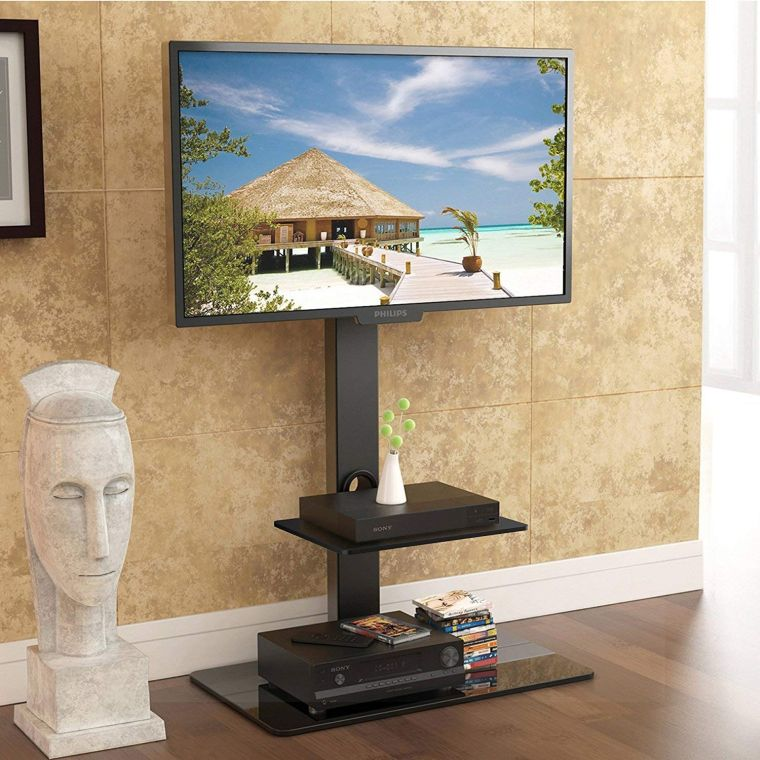 FITÜEYES Floor TV Stand with Mount best buy TV stand