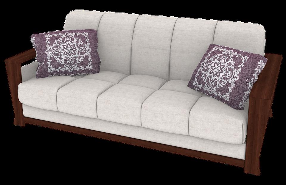 cushioned futon bed pixabay