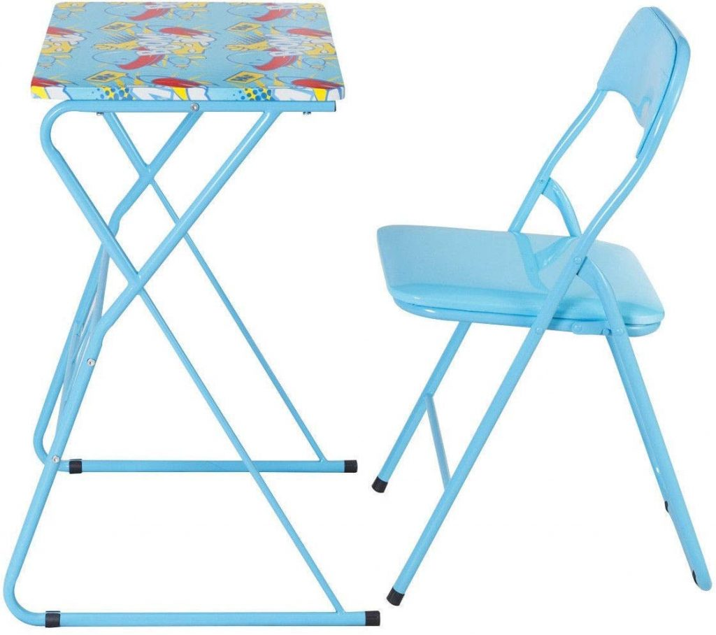 blue kids folding table