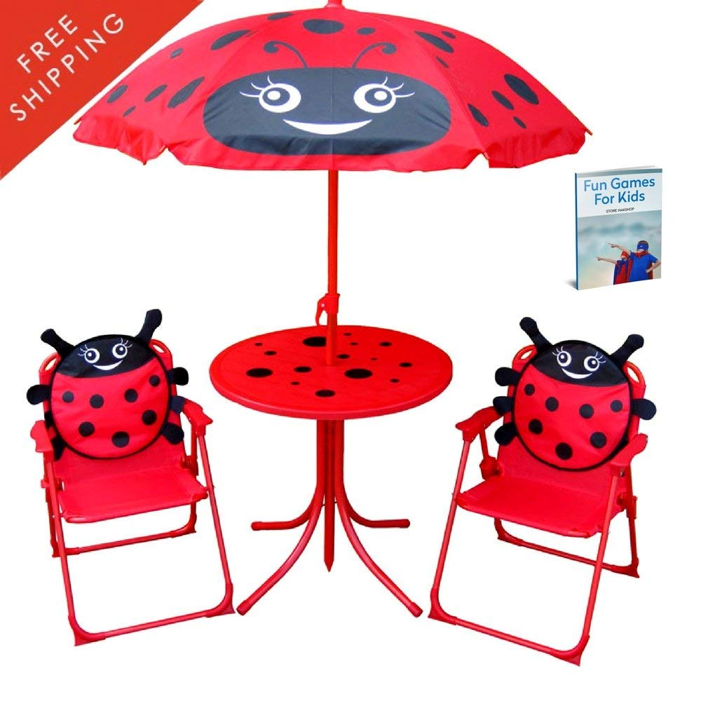 lady bird kids folding table and chairs set