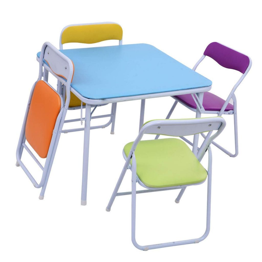 multicolor kids table and chairs
