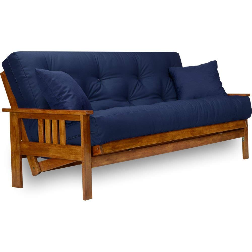 Stanford Futon Set – Full Size Futon Frame with Mattress