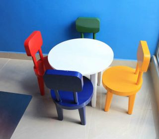 wooden or plastic table and chairs kids