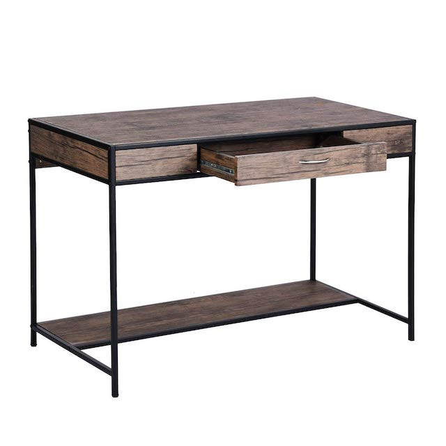 Aingoo Large Writing Desk with Drawer Rustic Computer Desk