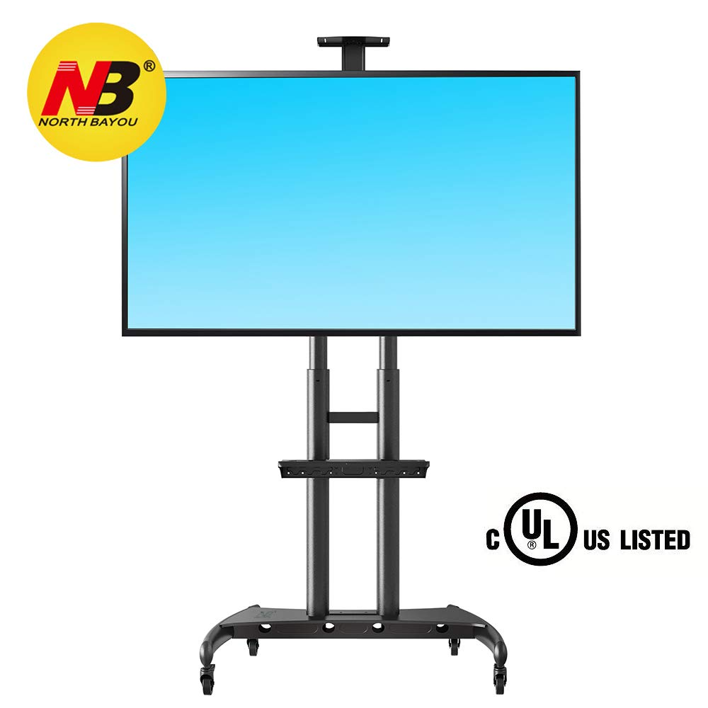 NB North Bayou Mobile TV Cart with Wheels<br />