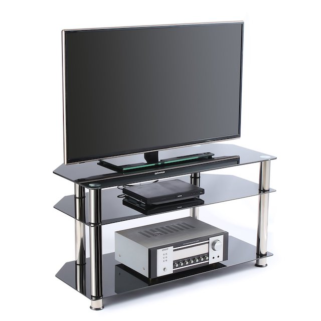 Rfiver Glass Corner TV Stand