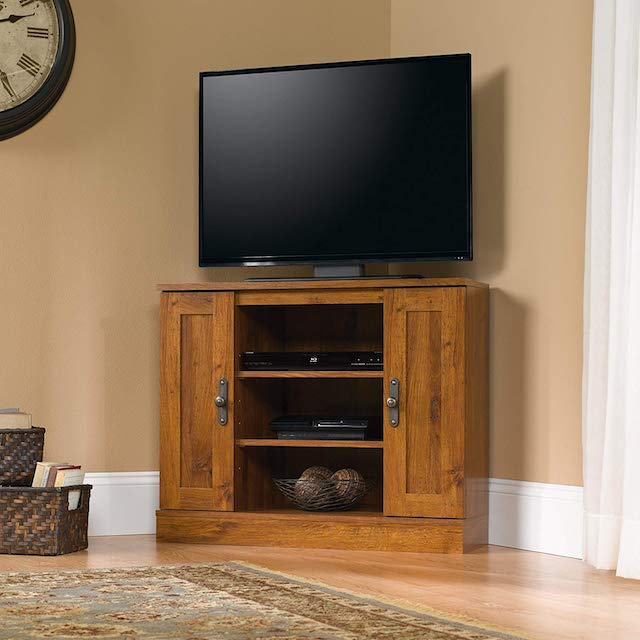 Sauder 404962 Harvest Mill Corner Entertainment Stand
