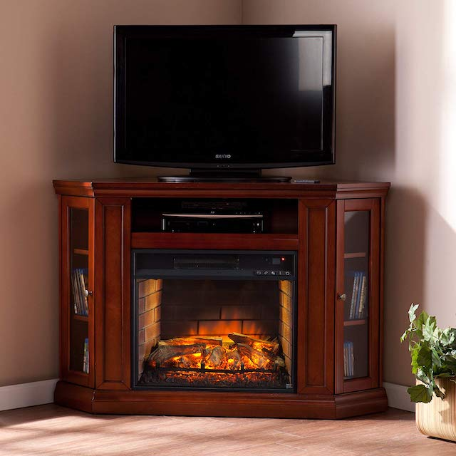 Southern Enterprises AZ6139IF Corner Media Infrared Fireplace
