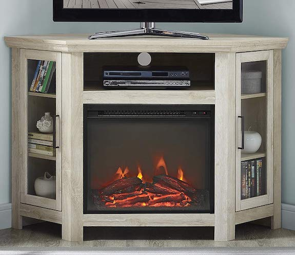 WE Furniture AZ48FPCRRO Fireplace Stand