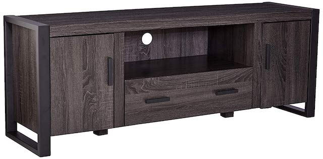 WE Furniture 60inch Industrial Wood TV Stand Console