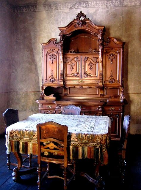 Old furniture for rustic style.