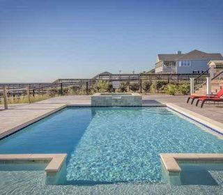 Luxury winter pool cover