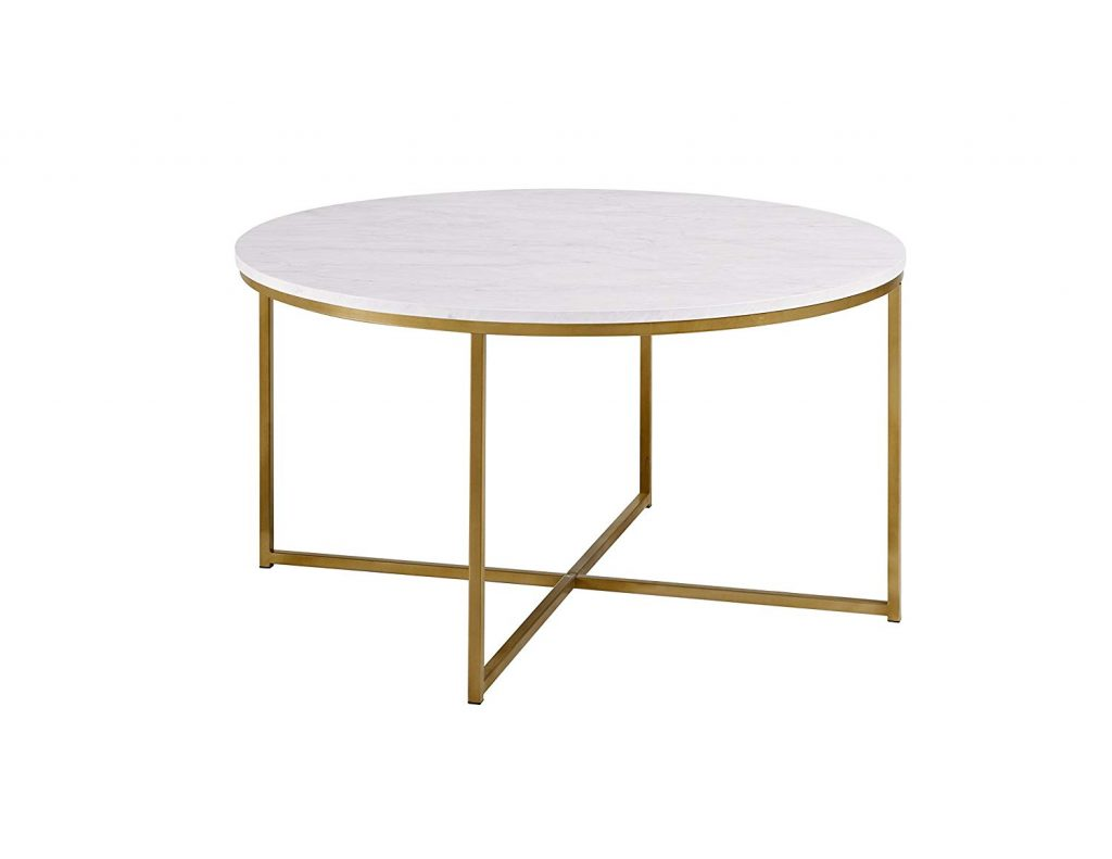 WE Furniture 36″ Short Round Table