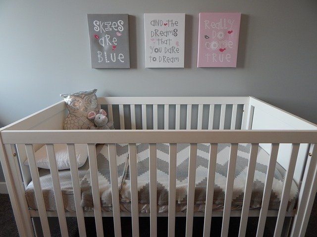 Baby room with art