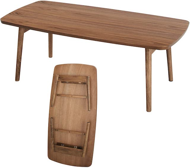 AZUMAYA Wood Folding Table