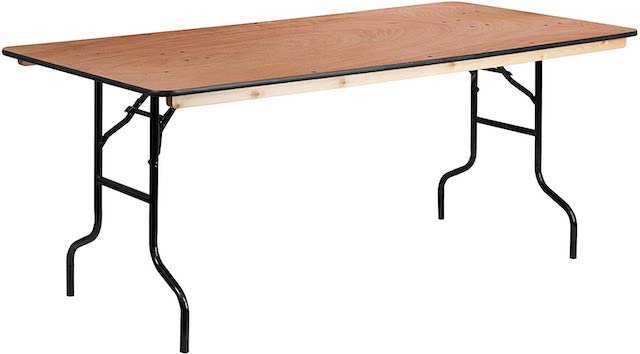 Flash Furniture Wood Folding Table
