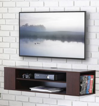 FITUEYES Wall Mounted Media Console Modern Floating TV Stand Shelf