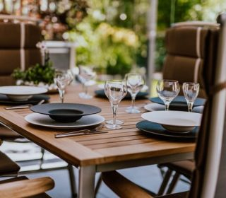 alfresco dining area in your garden