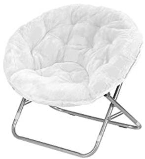 Mainstays Faux Fur Saucer Chair